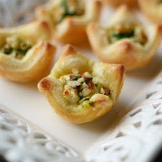 Herbed Goat Cheese Puff Pastry Cups.