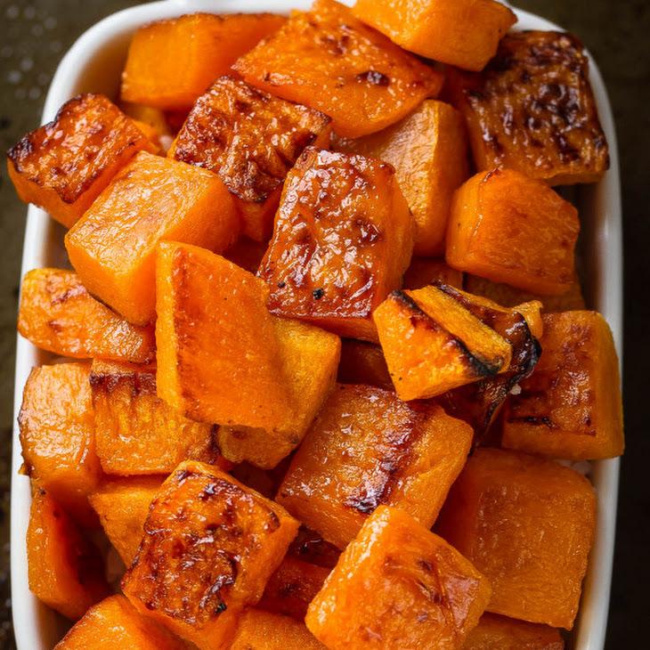 Maple Cinnamon Roasted Butternut Squash Recipe | Yummly