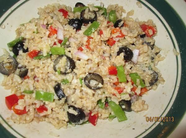 Brown Rice Veggie Salad Recipe