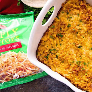 Cheesy Hash Brown Chicken Casserole + GIVEAWAY & VIDEO.