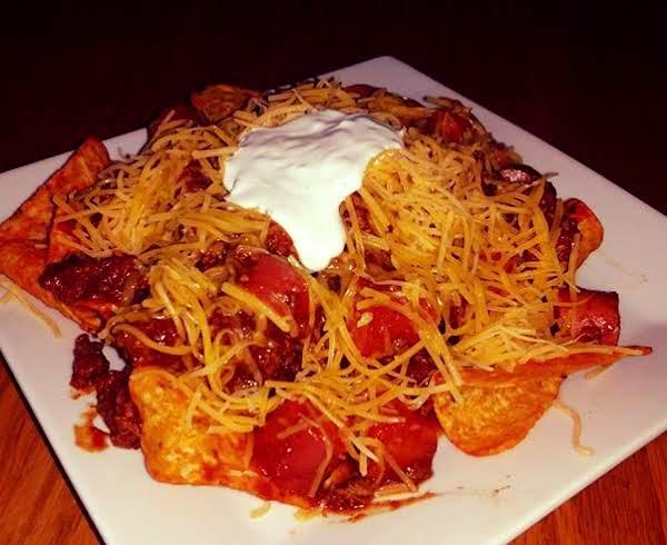 Chili Cheese Dog Nachos