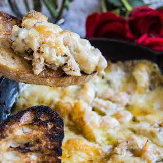 Shrimp & Crab Baked Cheese Dip.