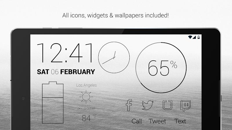 Lines Dark - Flat Black Icons (Pro Version) Screenshot 16
