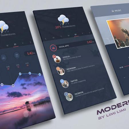 ModernUI for Kustom KLWP v1.0