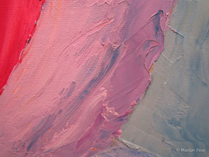 Photo: new painting, detail of palette knife work