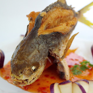 Spicy Thai-Style Deep-Fried Golden Pomfret
