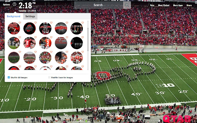 Ohio State Buckeyes New Tab Wallpapers