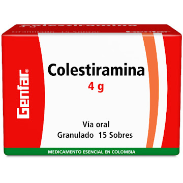 Colestiramina Genfar 4Gr   Sob Caja X15Sob.