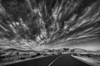Photo: Excuse me while I kiss the sky. --Jimi Hendrix   For #SkySunday curated by +Simone Linke   The Coyote Hills. Reprocessed for Sky Sunday. An HDR B&W layered with a tiff for parts of the landscape. The HDR was made from 4 tiffs in Photomatix. B&W done conversion in SIlver Efex Pro.  #PlusPhotoExtract