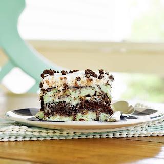 Mint Chocolate Chip Ice Cream Cake.