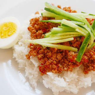 Easy Ground Pork Rice.