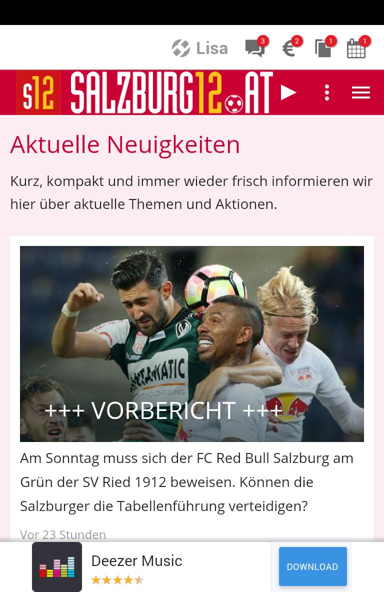 Скриншот SALZBURG12.at