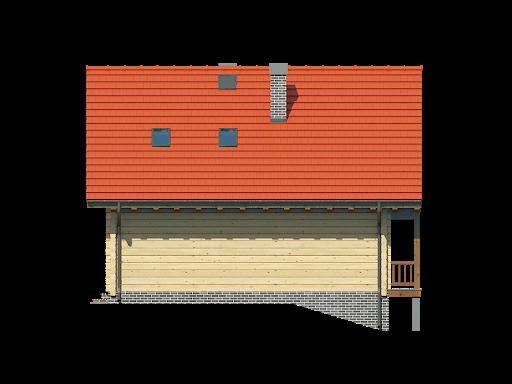 Bartne drewniane - Elewacja tylna