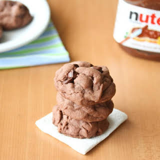 Soft Nutella Chocolate Cookies.