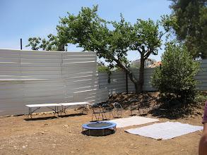 Photo: הכנת הגינה בבוקר האירוע. צילום: דנה קפלן-צ'יוידאלי