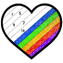 Glitter Color: Adult Coloring Book By Number Pages icon