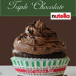 Triple Chocolate Nutella Cupcakes