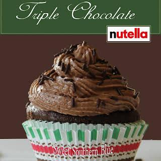 Triple Chocolate Nutella Cupcakes.