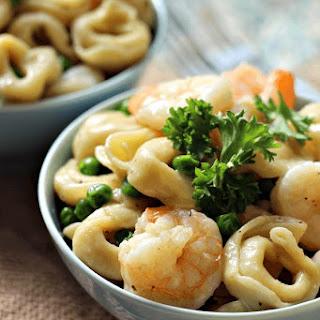 Garlic Shrimp Tortellini Toss.