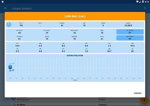 Basket Manager 2018 Free 3.4 screenshots 11