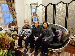 Photo: Remus & Jenny with Dick Lau inside the villa