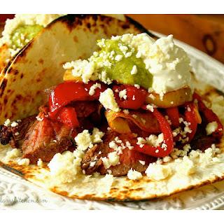 Key Lime Flank Steak Fajita Tacos.