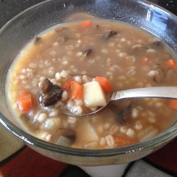 Hearty Mushroom Barley Soup....made Easy Recipe