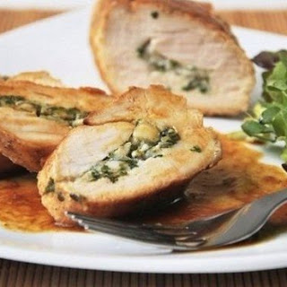 Chicken Fillet With Cheese And Herbs.