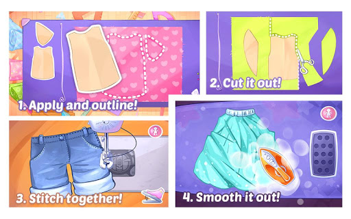 Fashion Dress up games for girls. Sewing clothes screenshots 3