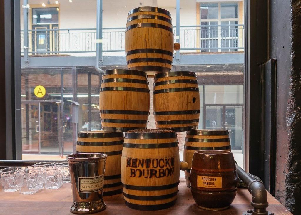 P & P Collectibles: Bourbon Barrel Candle Display