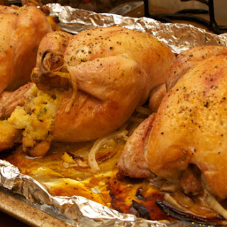 Stuffed Cornish Hens (Adapted from Ina Garten)