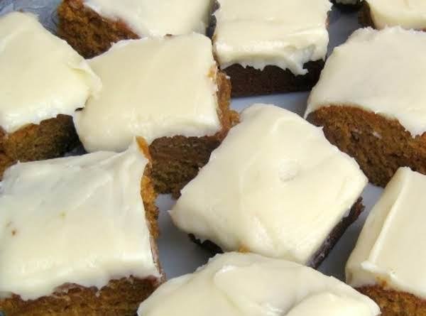 *pumpkin Bars With Cream Cheese Frosting* Recipe