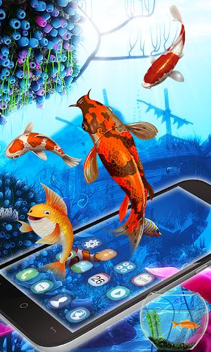 Fish Aquarium Live Wallpaper Koi Fish