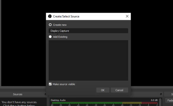 Create/Select Source