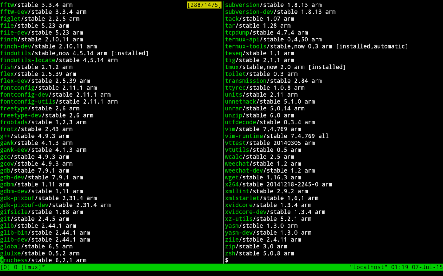 Termux – Screenshot