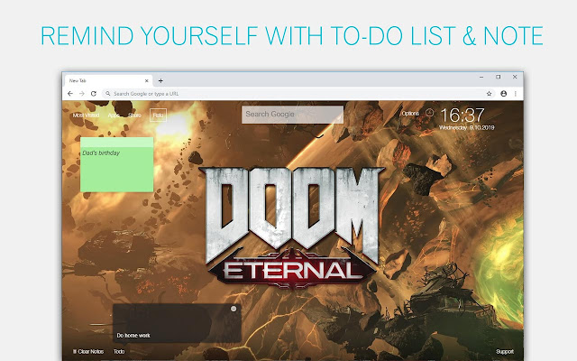 Doom Eternal Wallpaper HD Custom New Tab