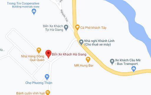 Địa điểm đón/trả khách tại Hà Giang