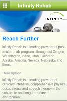 Screenshot of Infinity Rehab