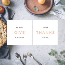 Give Thanks - Thanksgiving item
