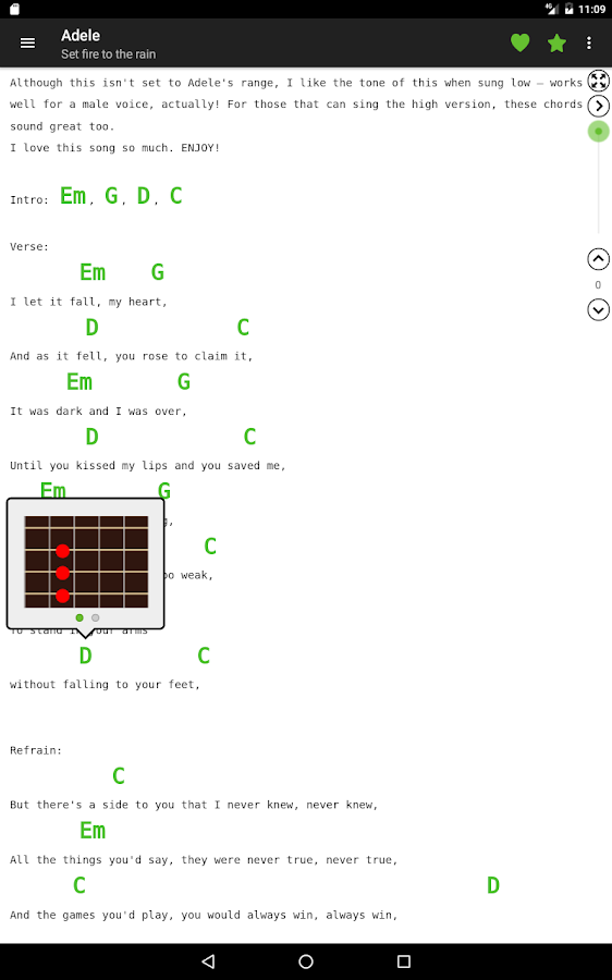 Guitar chords and tabs- screenshot
