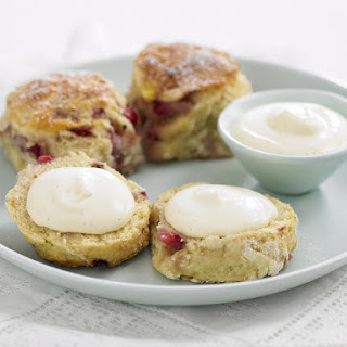 Strawberry Vanilla Scones with Chantilly Cream