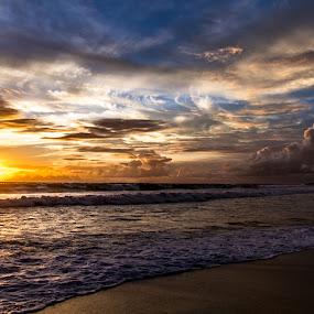 sunset... by Happy Sugianto - Landscapes Sunsets & Sunrises ( clouds, bali, seminyak, sunset, nice )