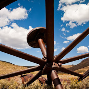 Through the Wheel by Daniela Maskova - Artistic Objects Other Objects ( california, ghost town, bodie, travel, usa )