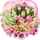 Spring Lilies And Tulips Live Wallpaper Android APK Download Free By SweetMood