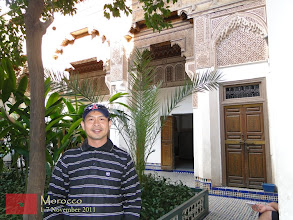 Photo: at the Bahia Palace in Marrakech