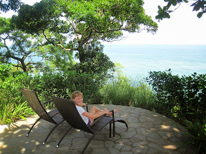 Photo: Genevieve enjoying the view