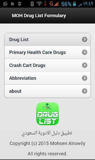 MOH Drug List Formulary