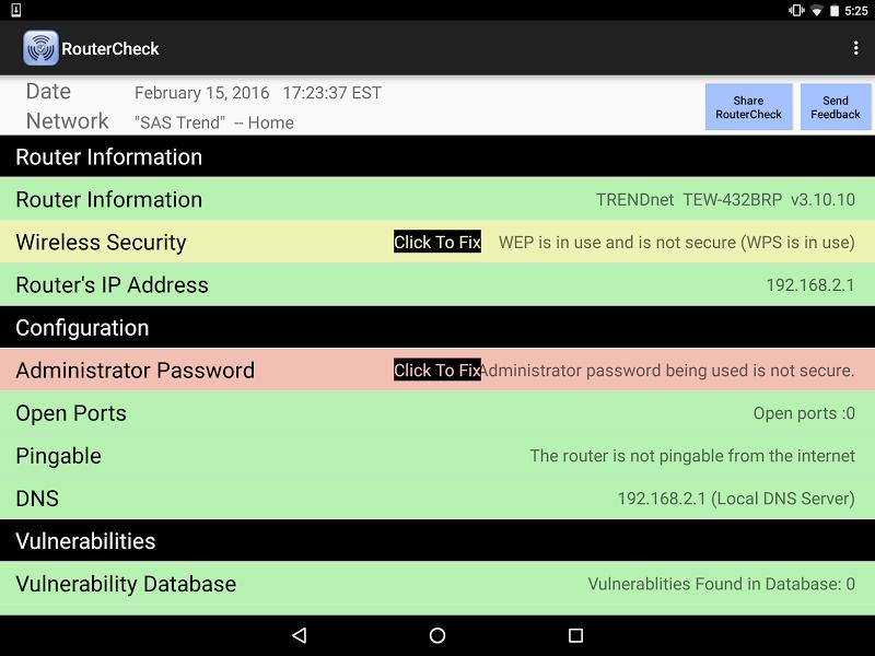 RouterCheck Screenshot 10