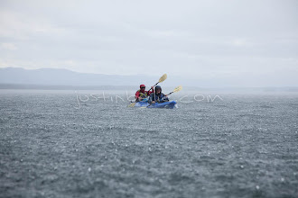 Photo: Sea kayaking in a squall on Jackson Lake in Grand Teton National Park, WY.