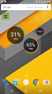 X-CPU - Circle Widgets Screenshot